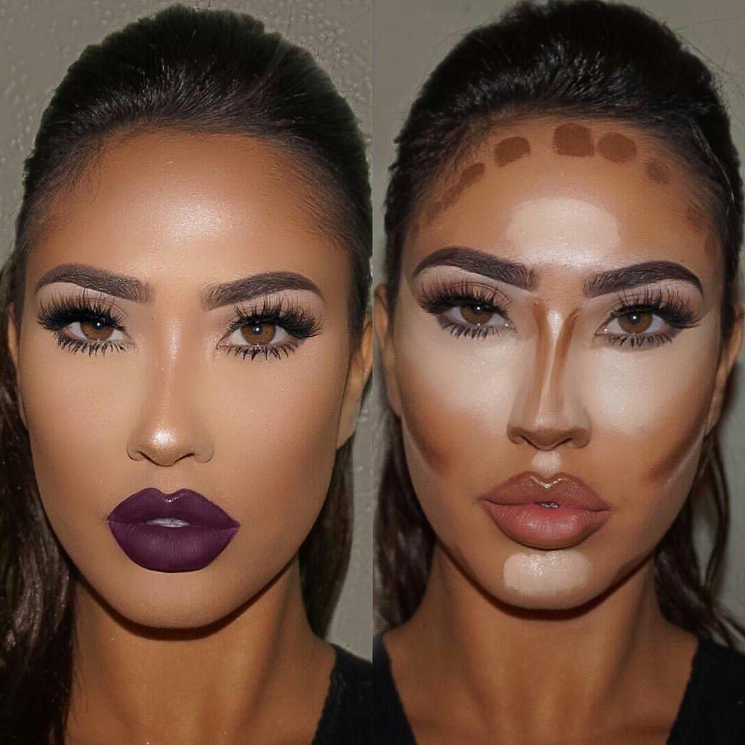 Contouring für ovale Gesichtsform