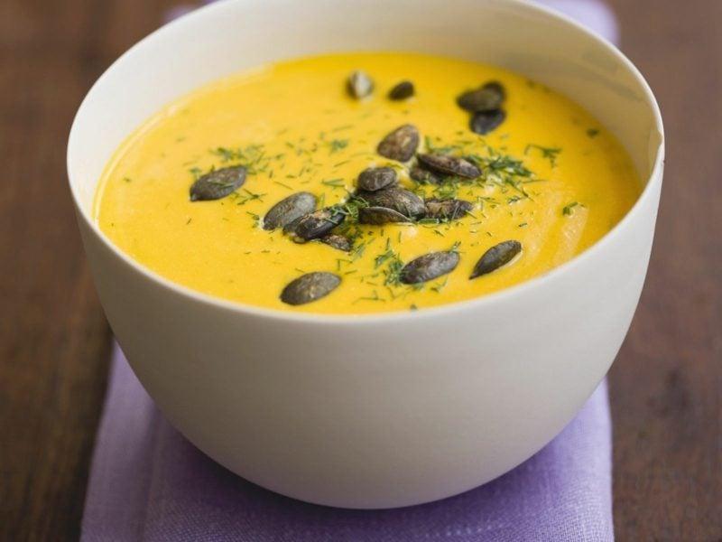 Kürbiskernsuppe selber zubereiten