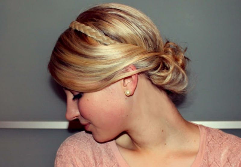 Haarband Frisur eleganter Look