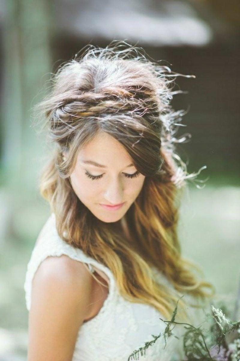 Haarband Frisur geflochtene Zöpfe