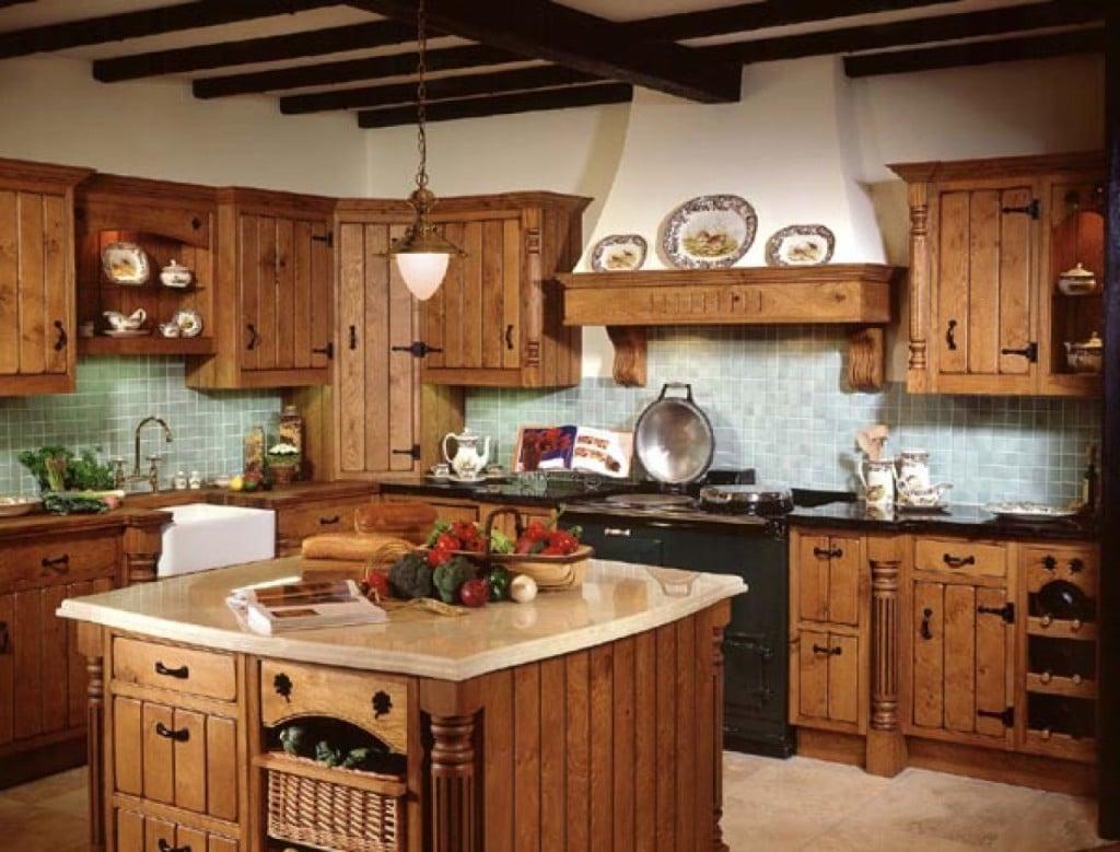 Robuste Küche im Landhausstil