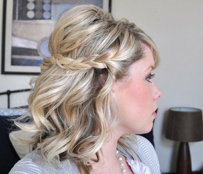 Frisuren mittellange Haare geflochten