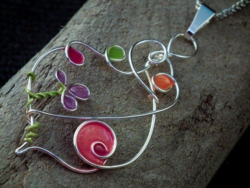 Schmuck basteln Halskette aus Draht