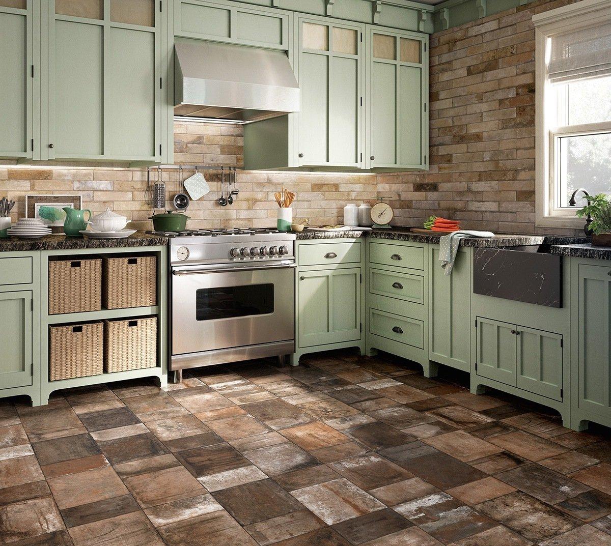Pastellfarbene Küche im Landhausstil- Tolle Kombination mit Steinen