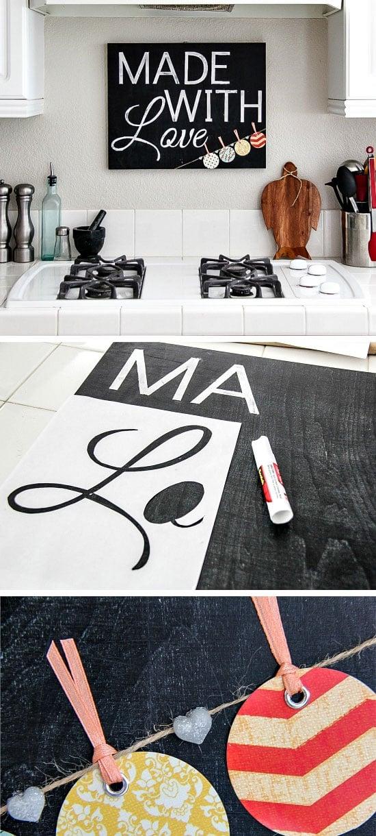 Küchendeko Wanddekoration selber machen