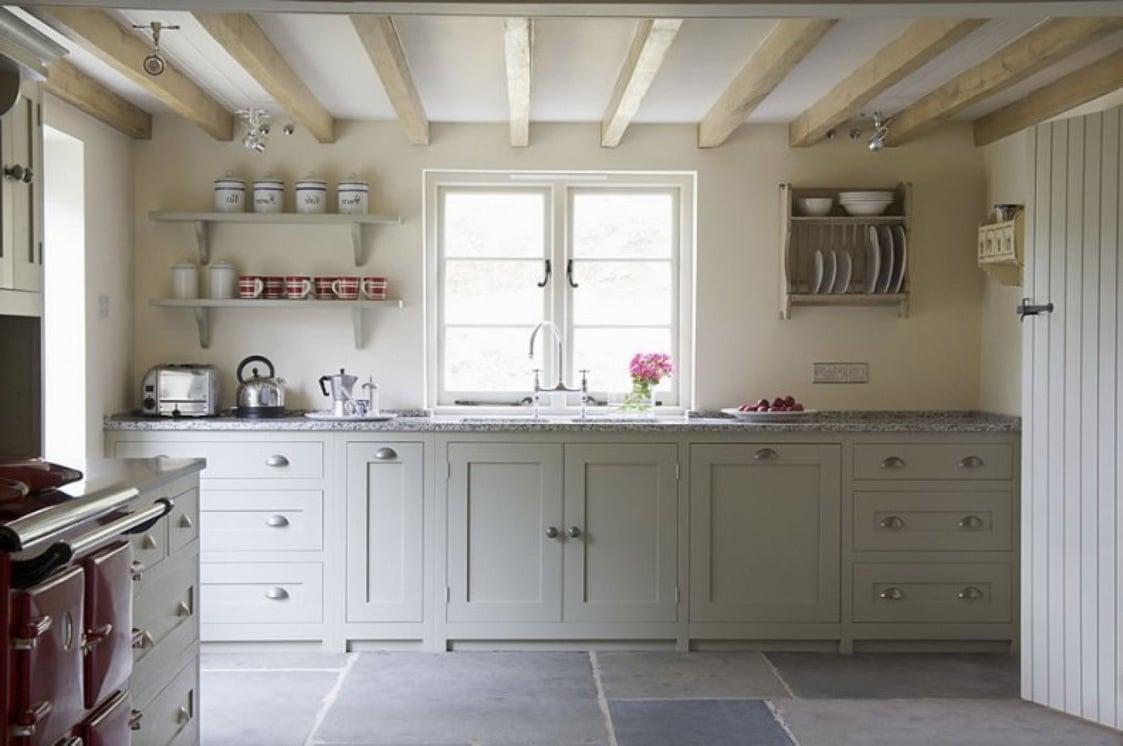 coole Landhaus Küche - schlicht und modern