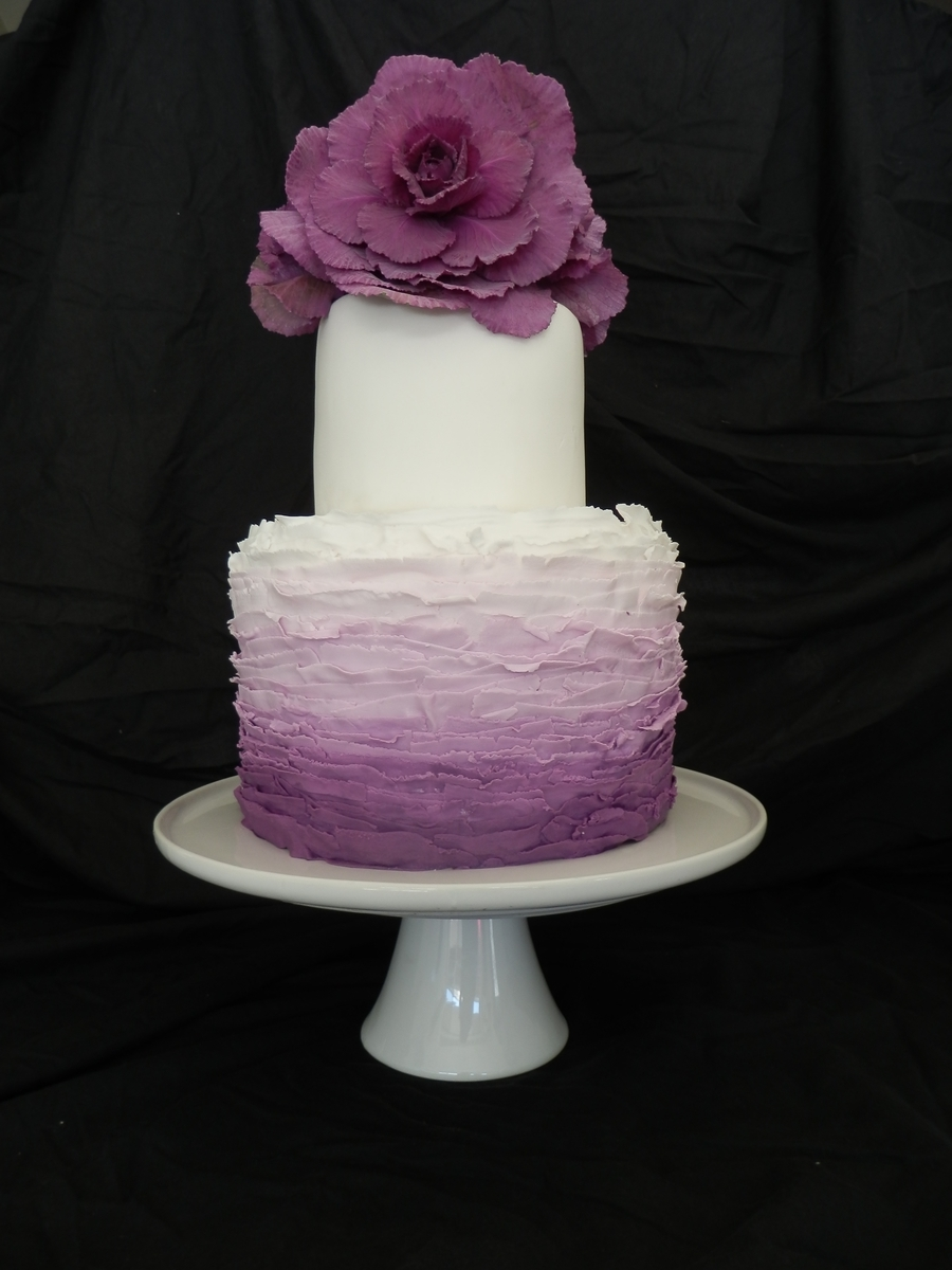 Ombre Torte - ein lila Traum
