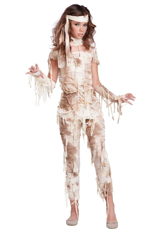 Halloween Kostüm Damen originell Mumie