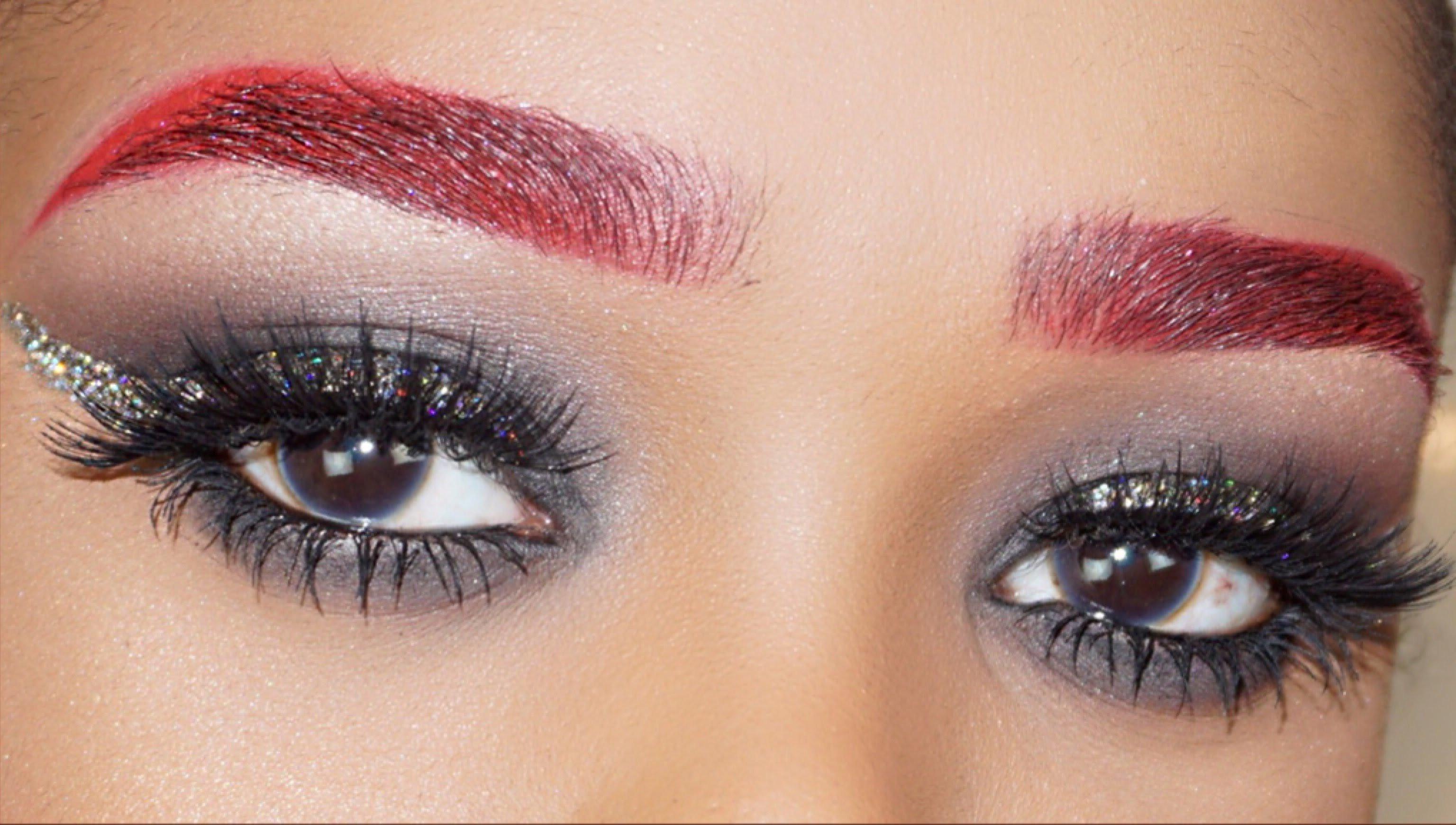 Augenbrauen färben auch in rot-warum nicht`?