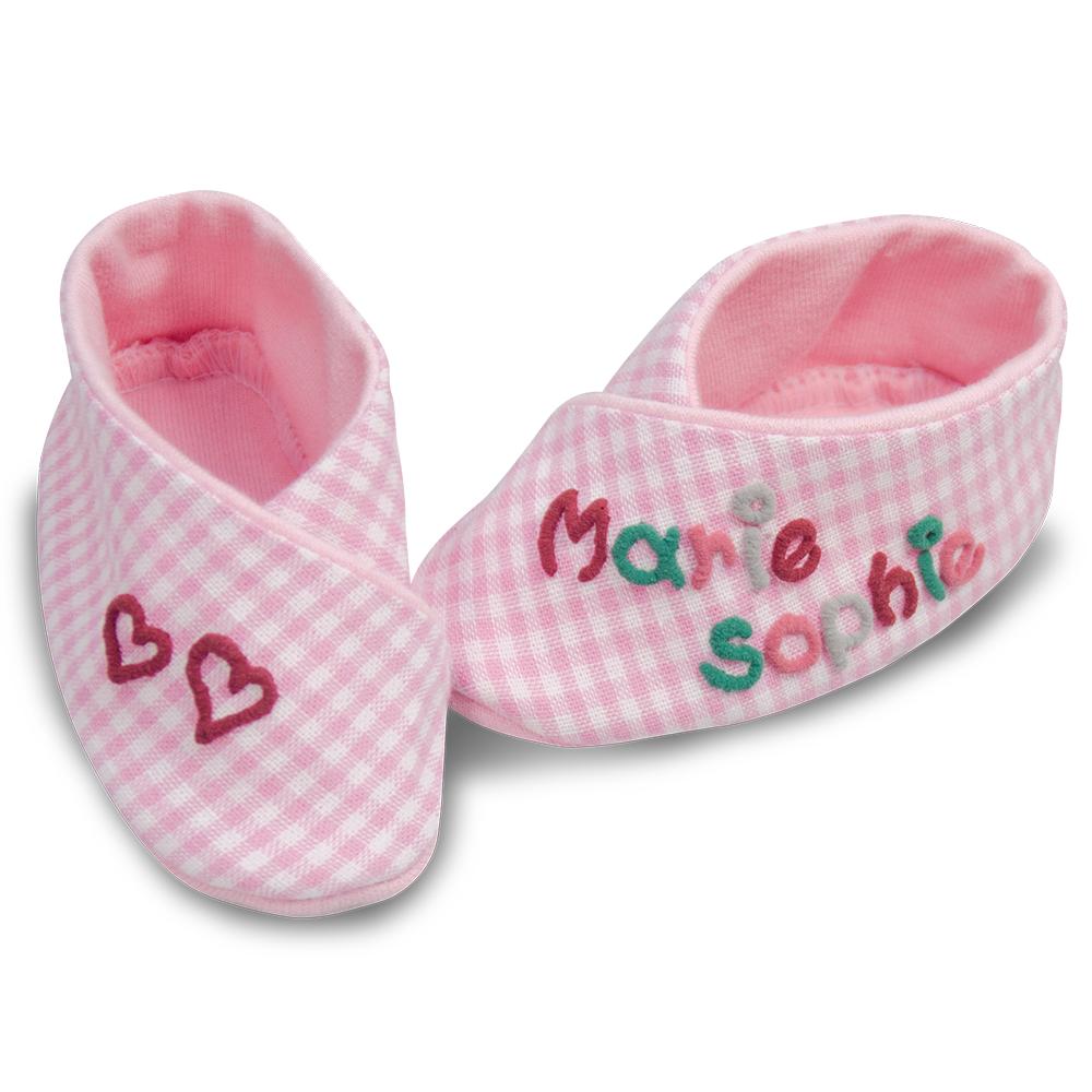 bestickte Baby-Schuhe - ein tolles Geschenk