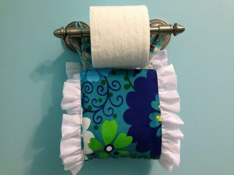originelle toilettenpapierhalter textil badaccessoires