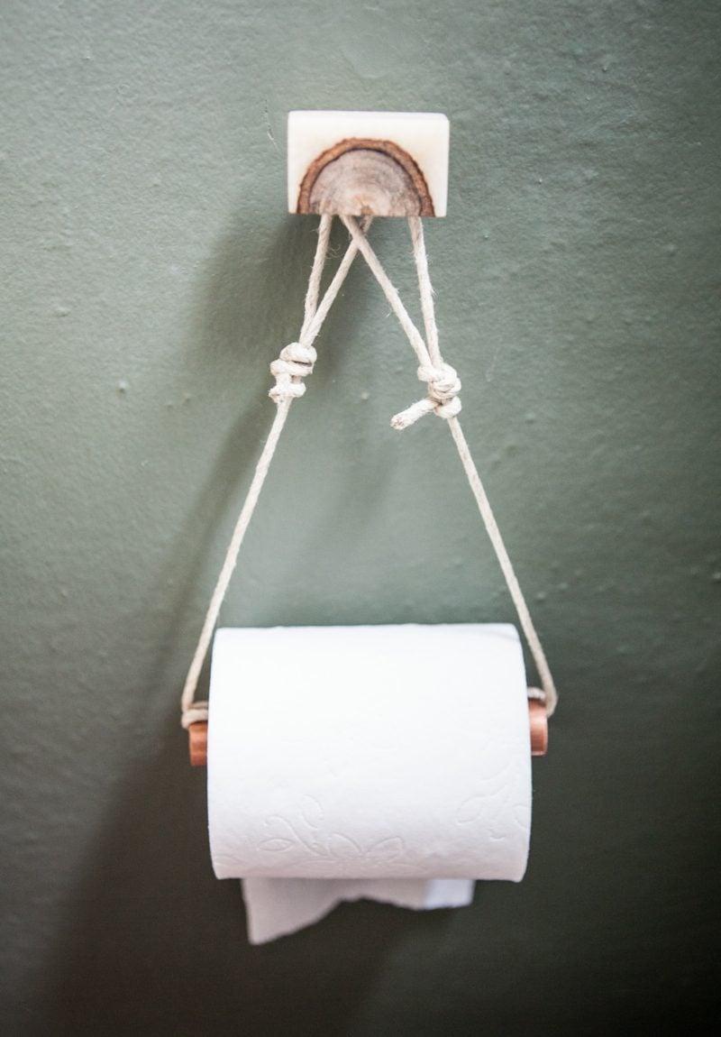 badzubehör toilettenpaprierhalter aus holz