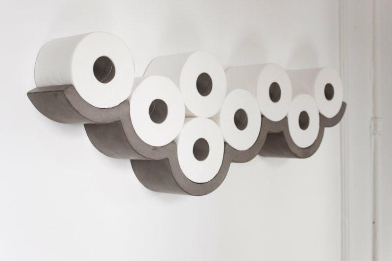 wolke toilettenpapierhalter aus beton