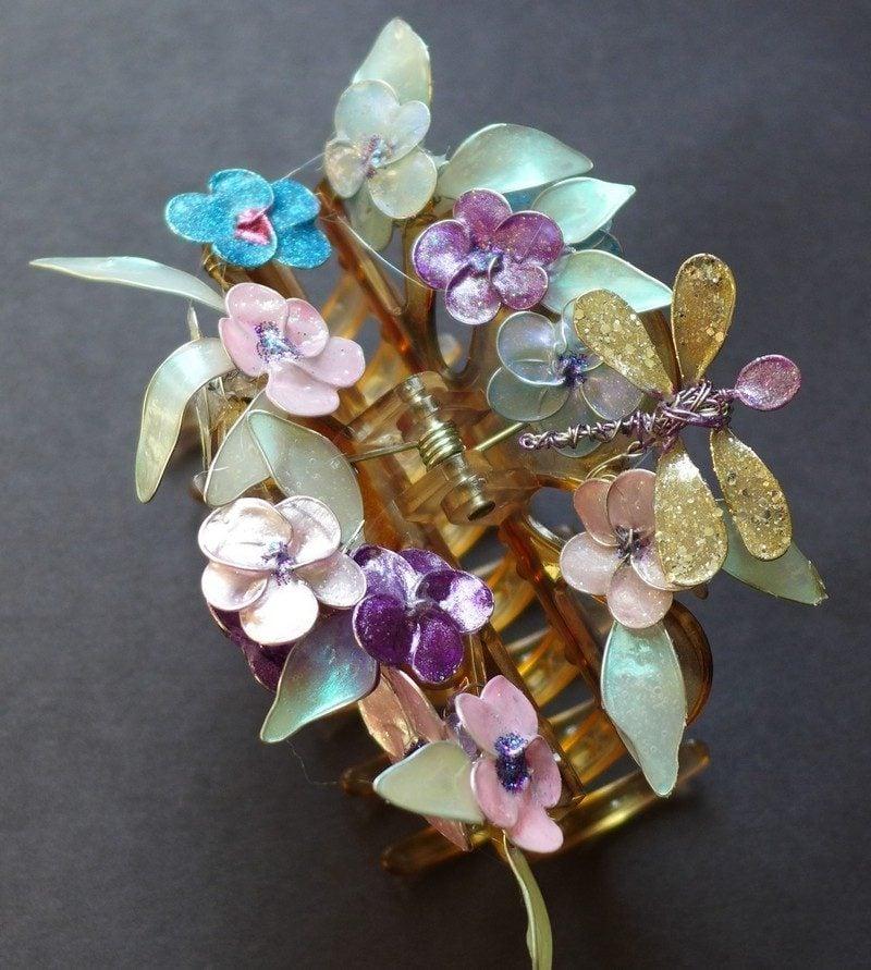 DIY Schmuck basteln Haarspange dekorieren