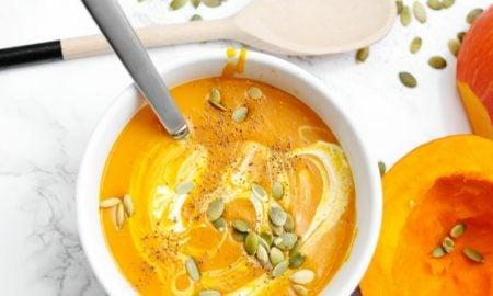 schnelle vegetarische Gerichte Kürbissuppe