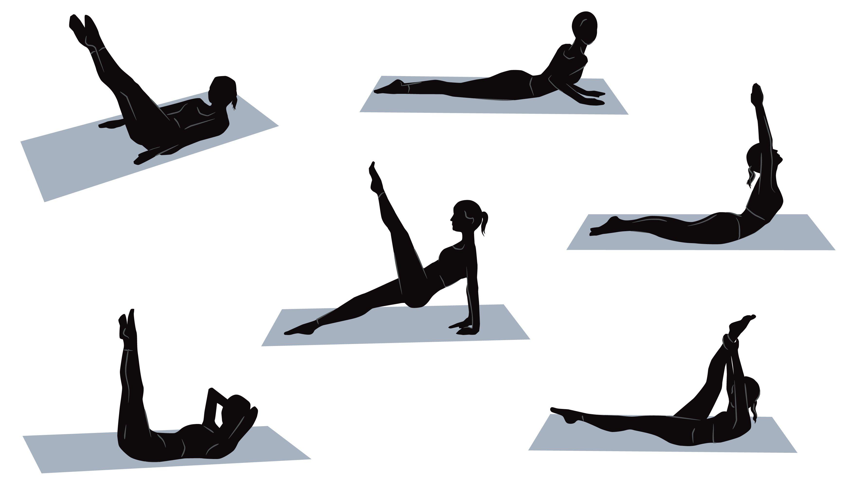 Pilates-Grundübungen