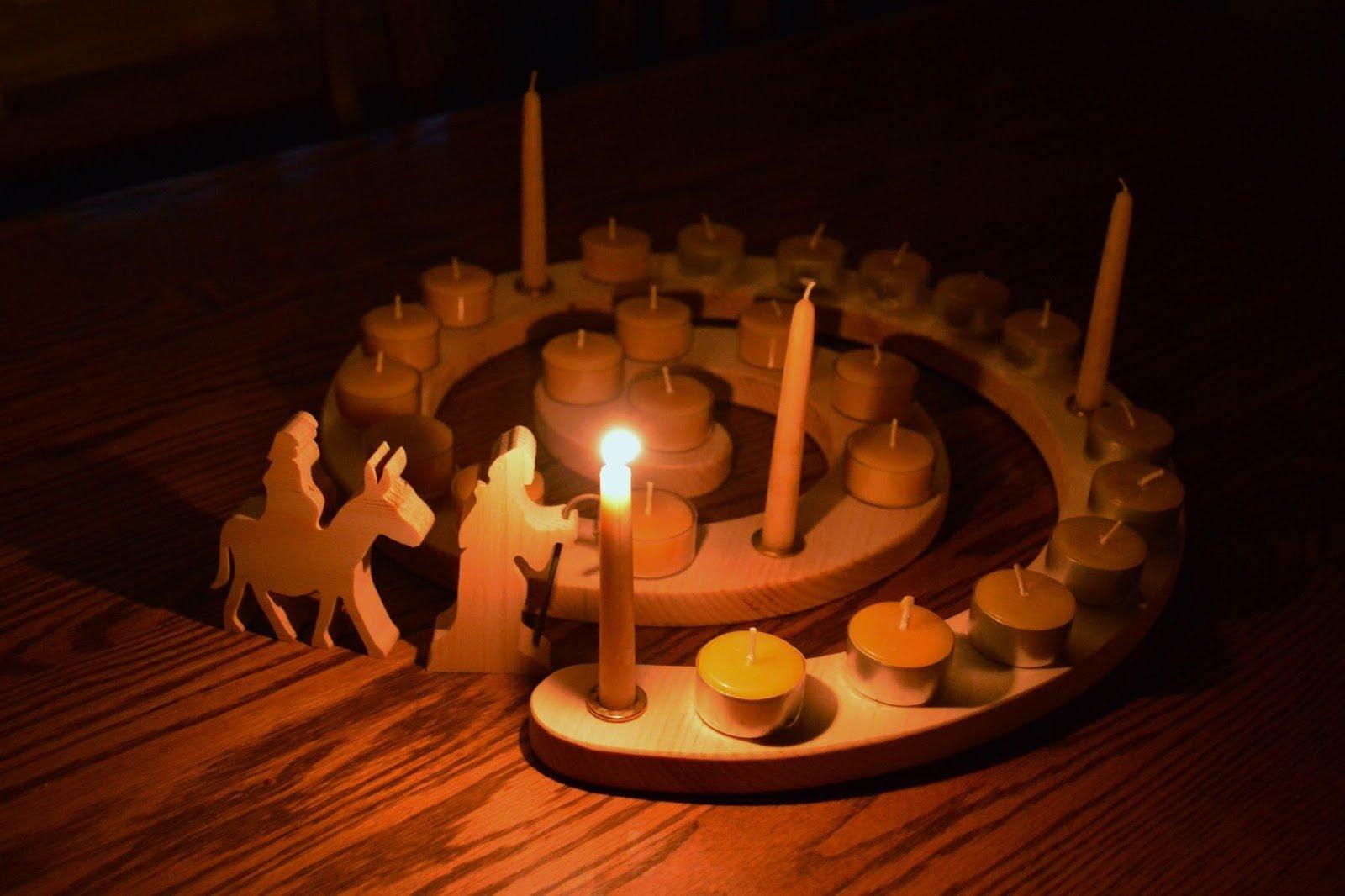 Adventkranz am 1. Advent