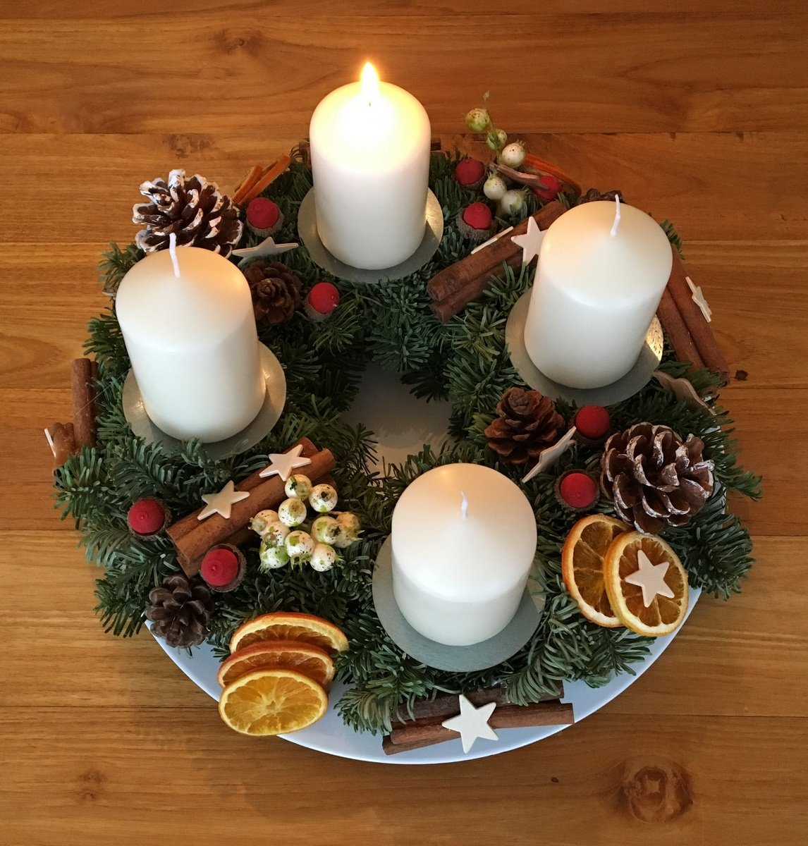 Adventkranz am 1. Advent