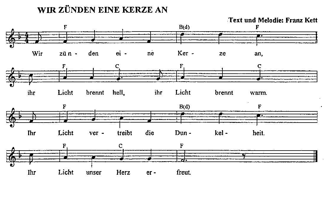 Am 1. Advent Lieder zusammen singen