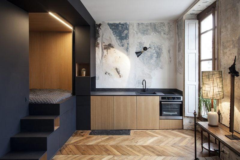 Die Funktion der Ebene beim 1 Zimmer Wohnung Einrichten