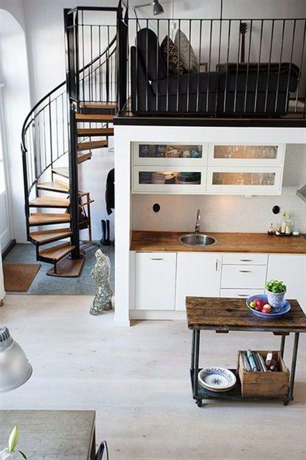1 Zimmer Wohnung Einrichten durch Ebenen