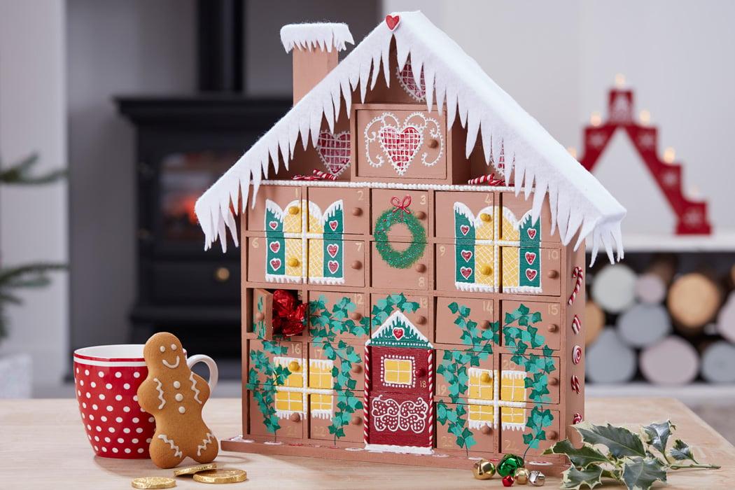 Adventskalender selber basteln - süßes Häuschen mit Überraschungen