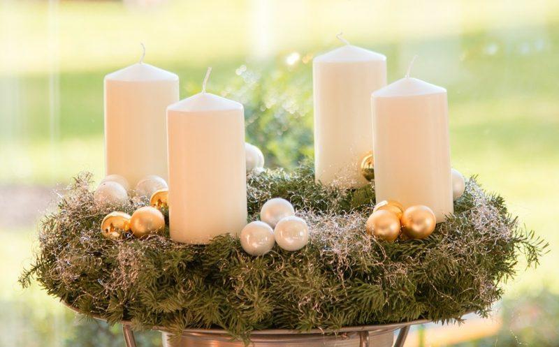 Adventssprüche herrlicher Adventskranz