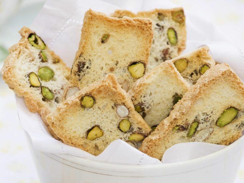 Pistazien gesund kalorienarm Dessert Biscotti