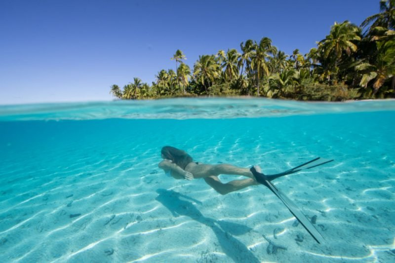 die schönsten Orte der Welt Cookinseln klristallklares Wasser Lagune