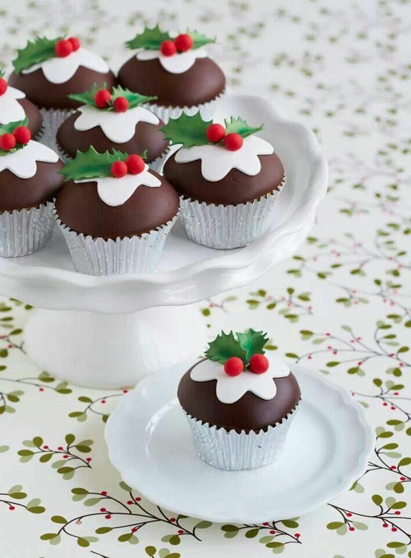 Weihnachtsdessert tolle Cupcakes