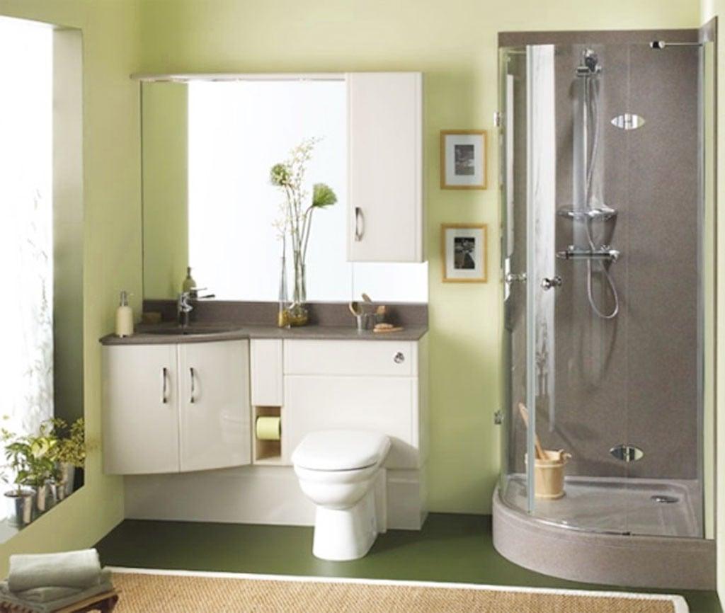 Badezimmer - klein, hell und gemütlich