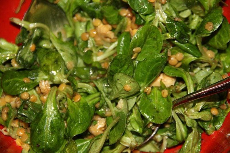Salat Kalorien Feldsalat mit Linsen