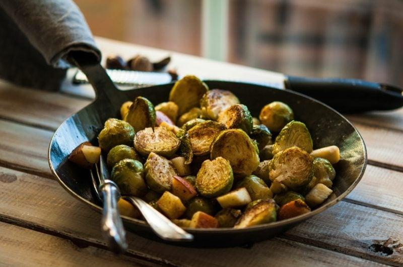 Rosenkohl gesund Rezepte Gemüsepfanne
