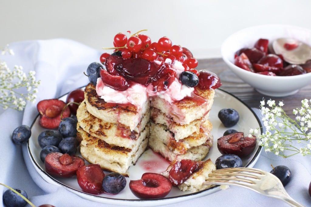 Pfannkuchen mit Hafermehl