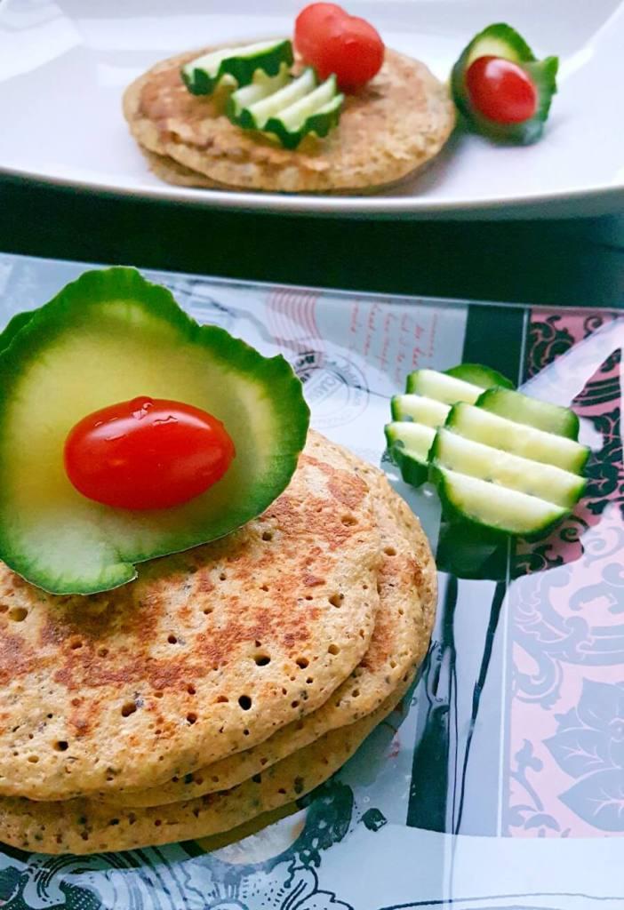 gesunde Pancakes mit Gemüse