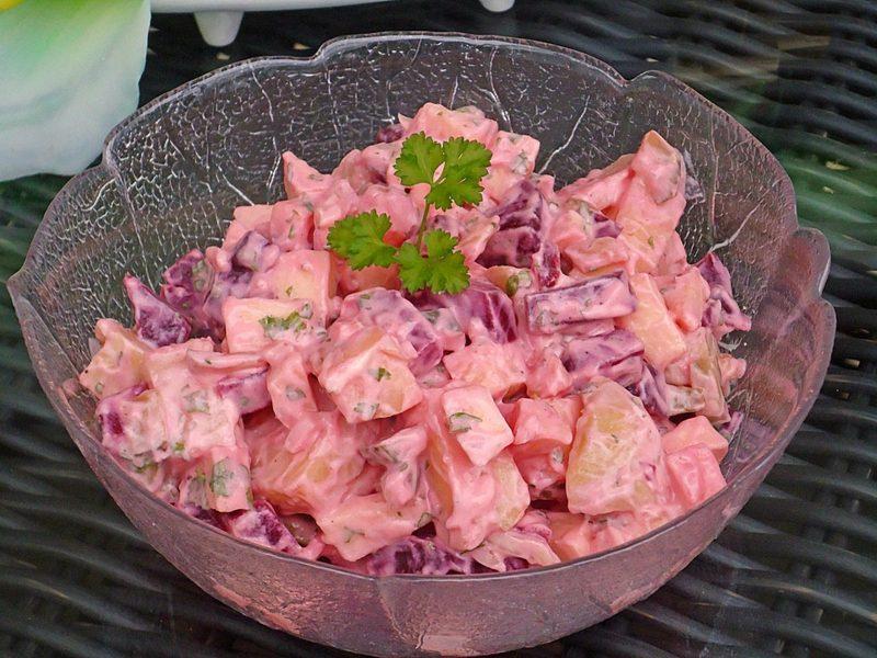 Kalorien Salat Kartoffel Rote Bete