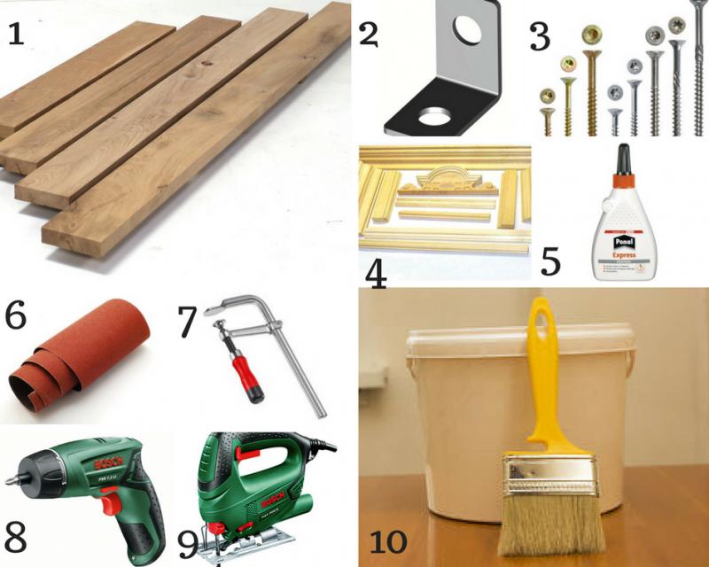 Notwendige Materialien für den Bau einer Kaminkonsole