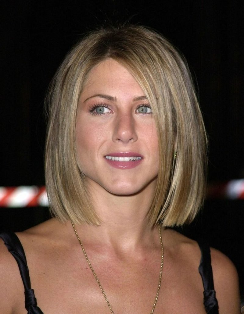 langer Bob blonde Haare Jennifer Aniston