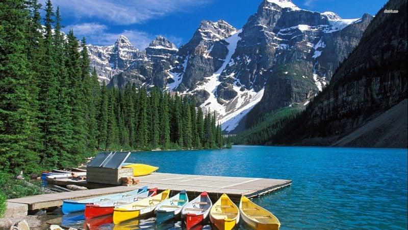 die schönsten Orte der Welt Moraine Lake Aussicht