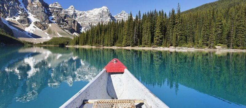 die schönsten Orte der Welt Moraine Lake Kanada Banff Nationalpark