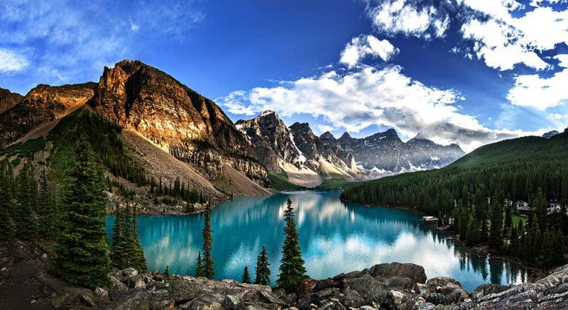 die schönsten Orte der Welt Moraine Lake Kanada atemberaubende Landschaft