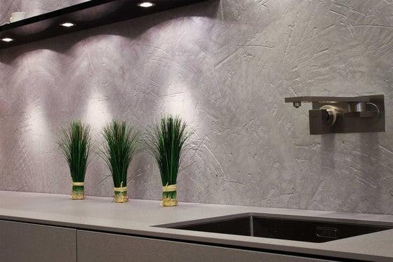 Strukturputz mit Lichteffekt - schickes Design