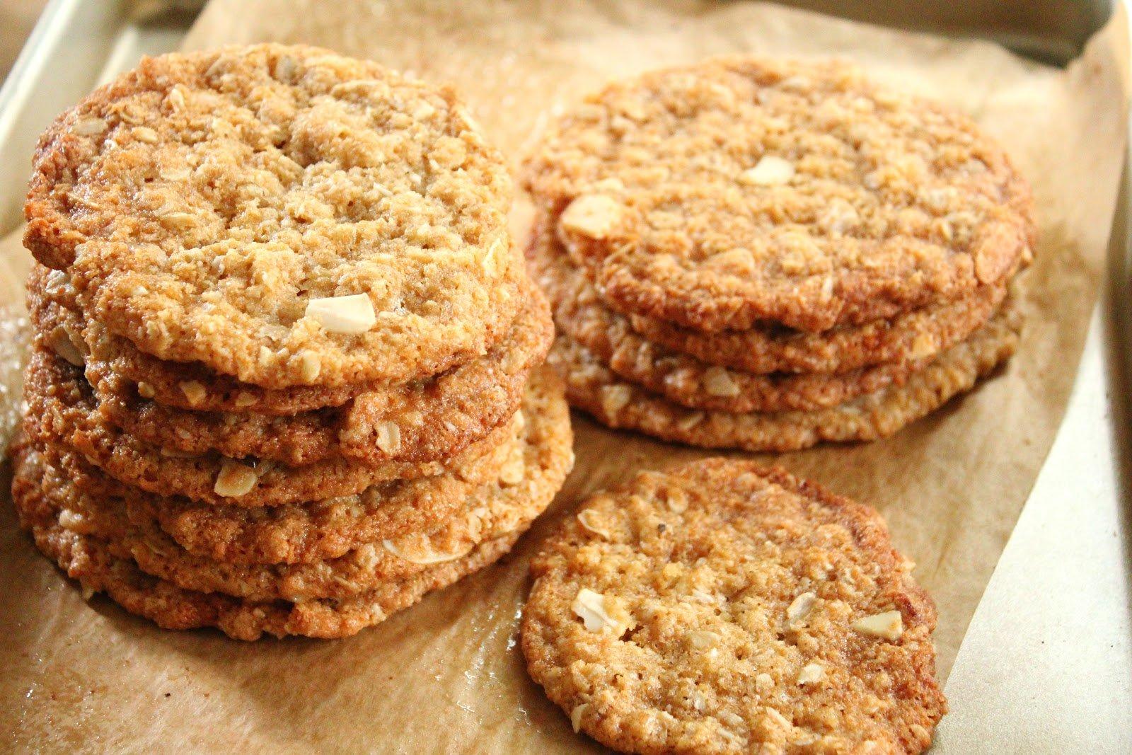 Vegan backen - Haferflocken und Nüsse