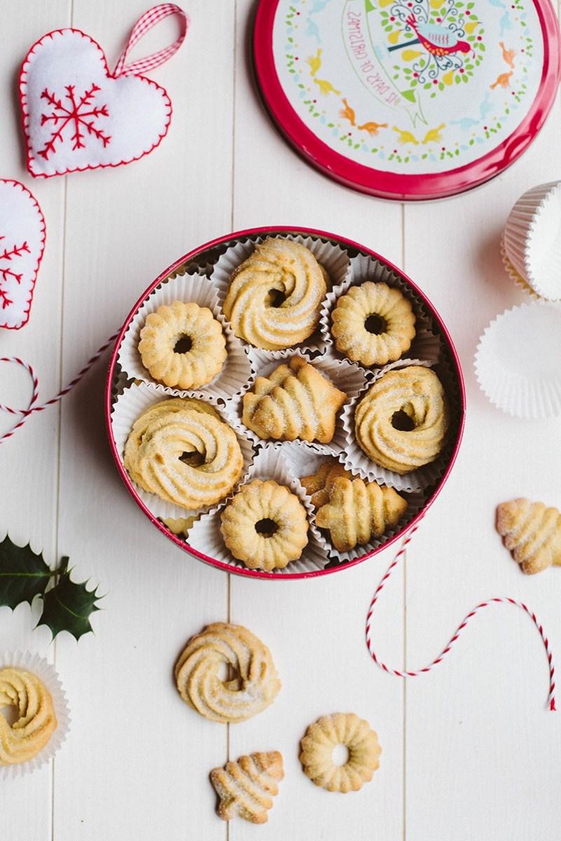 Dänische Butterkekse zum Weihnachten