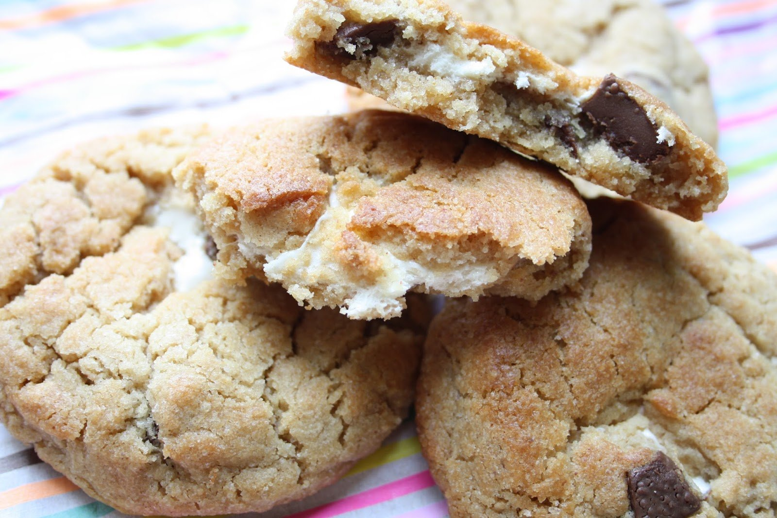 Amerikanische Cookies - saftig in der Mitte
