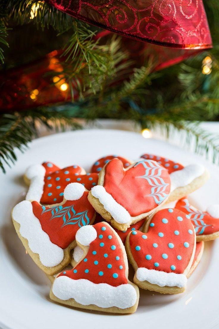 Weihnachtskekse wunderschön dekoriert
