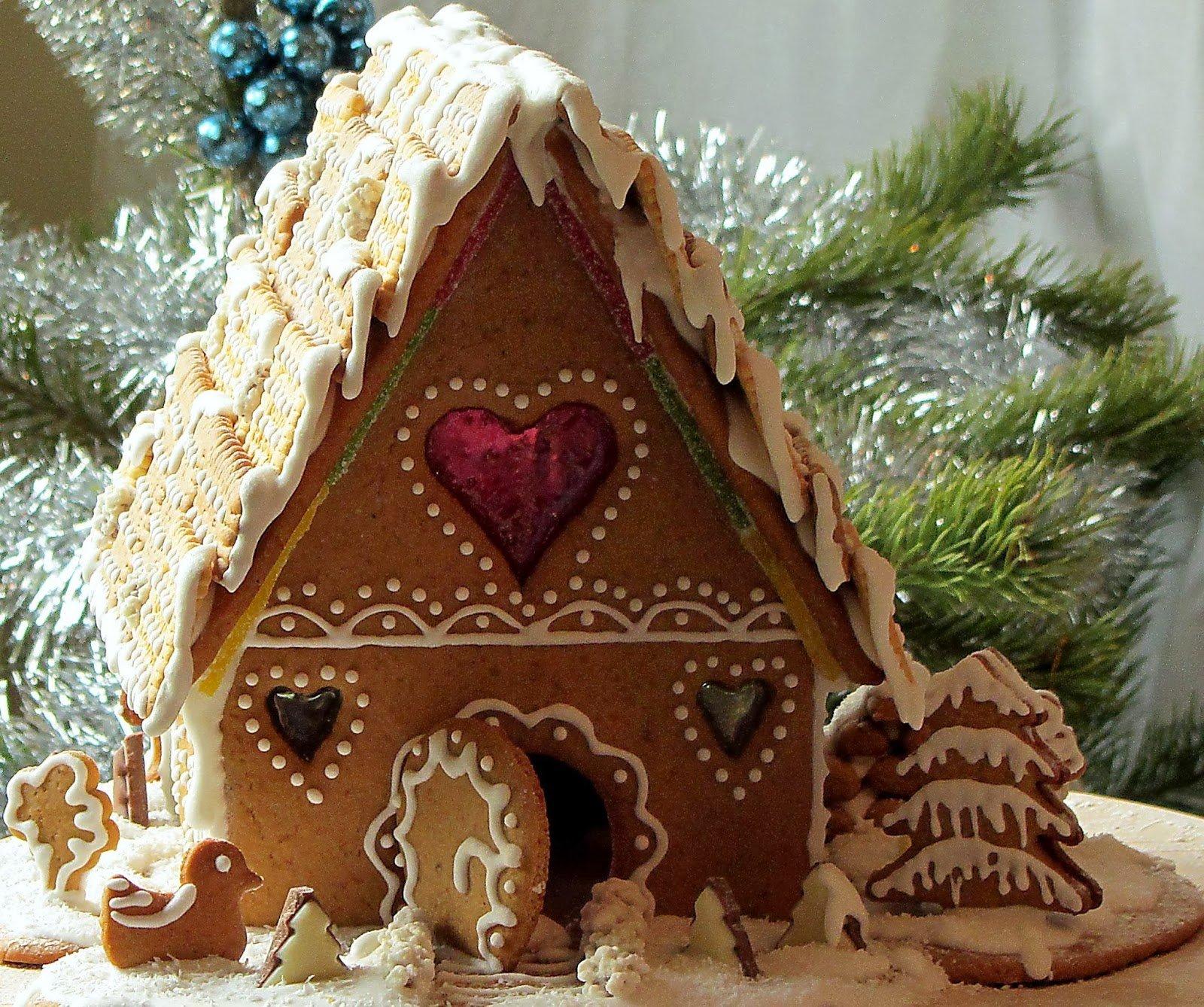 Als Weihnachtliches Geschenk - Lebkuchenhäuschen