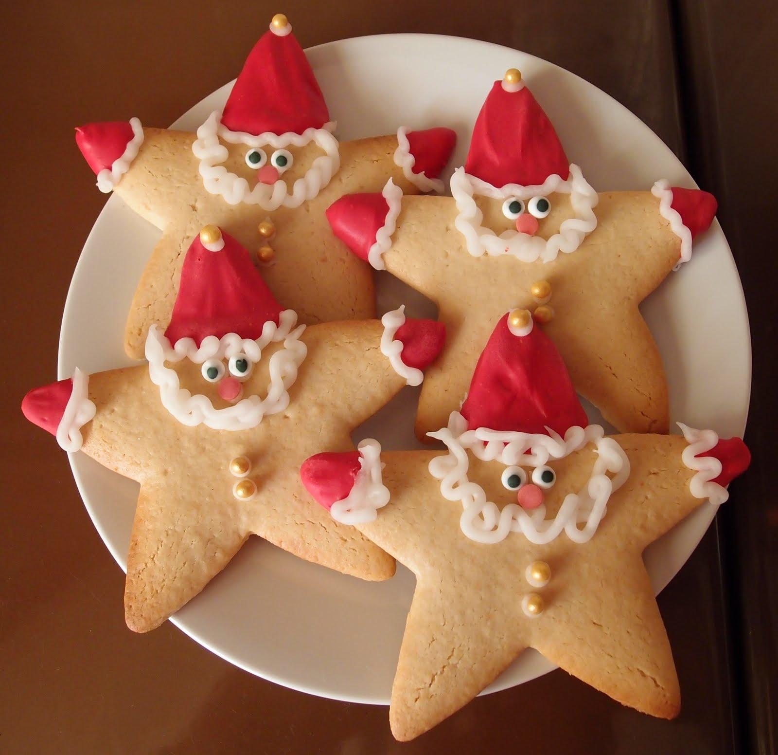 Weihnachtsmänner zum gleich Aufessen