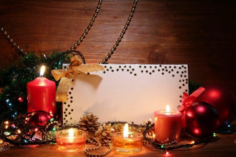 Weihnachtsgrüβe stilvolle Weihnachtskarte mit Sternchen