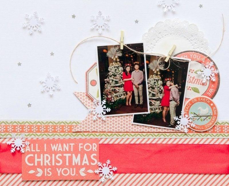 Weihnachtsgrüβe tolle Karte mit Fotos